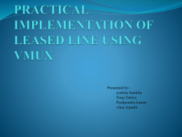 practical implementation of leased line using vmux