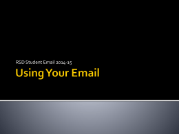 Using your email - Renton School District