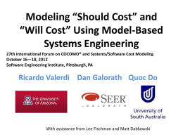 Modeling *Should Cost* and *Will Cost* Using Model