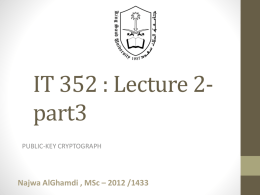 ppt - IT352 : Network Security