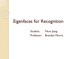 Eigenfaces for Recognition