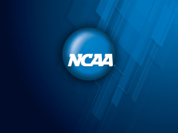 T3.3 NCAA Division I Academic Standards and Legislative