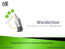 Discover more - wordiction.com