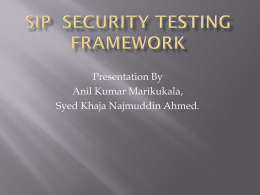 SIP Security Testing Framework