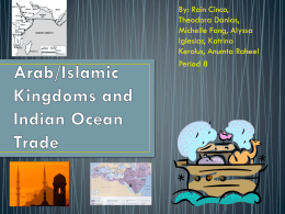 Arab-Islamic Empires and the Indian Ocean Basin
