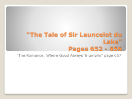 *The Tale of Sir Launcelot du Lake* Pages 652