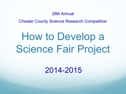 Science Fair Power Point