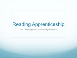 Introductory PPT - ReadingApprenticeship-BVIU