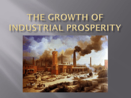 The Growth of Industrial Prosperity