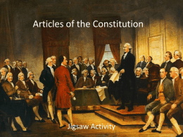 Articles of the Constitution Jigsaw