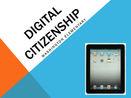 Digital Citizenship PPT - Geary County Schools USD 475