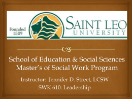 File - Social Work Education Supplemental Website