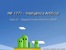 Inteligência Artificial - Support Vector Machine (SVM)
