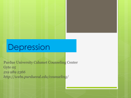 Depression Screening - Purdue University Calumet