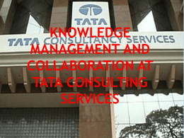 knowledge Management & Collaboration at TATA
