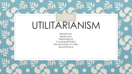 Utilitarianism - block day