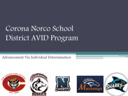 CNUSD AVID Recruitment presentation - Corona