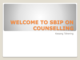 SBIP ON COUNSELING