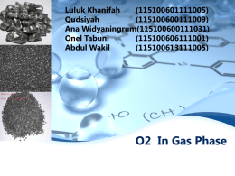 O2 In Gas Phase Luluk Khanifah