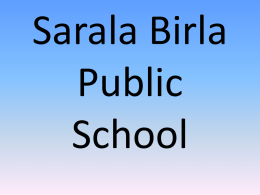 Activities that we conduct - Sarala Birla Public School