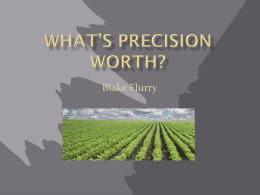 What - Precision Agriculture, SOIL4213, Oklahoma State University.