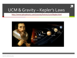 Kepler`s Laws PP - Plain Local Schools