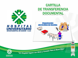cartilla transferencia documental