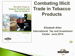 trade in tobacco products