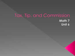 Tax, tip, and commission powerpoint