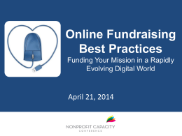 Online Fundraising Best Practices
