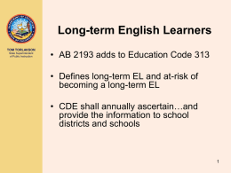 Long-term English Learners