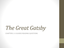 The Great Gatsby - Union High School