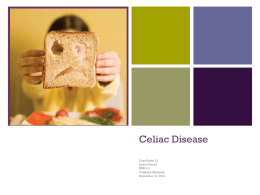 Celiac Disease Presentation - Clinical Manual