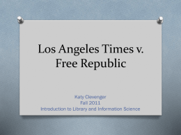 Los Angeles Times v. Free Republic - UCA-6320-LIBM