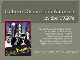 11 Cultural Changes of the 1920s