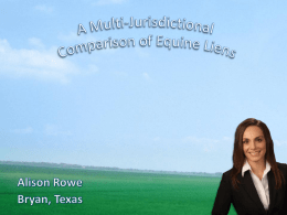 here - Equine Law Blog : Texas Horse Lawyer & Attorney : Alison