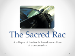The Sacred Rac - The West Central Project