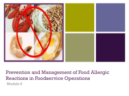 Module 6. - Food Allergy Education