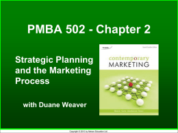Strategic Planning & Mktg. Process Chp2