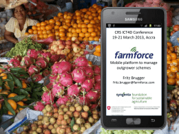 Farmforce advanced mobile platform