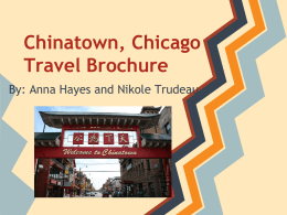 Chinatown, Chicago Travel Brochure
