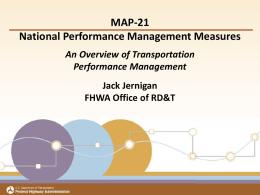 Transportation Performance Measures