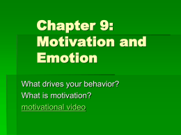Ciccarelli Chapter 9 - Motivation and Emotion