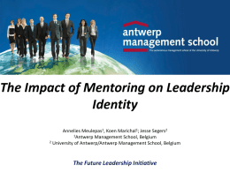 The Impact of Mentoring on Leader Identity Development