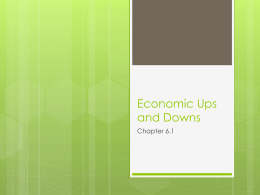 Economic Ups and Downs