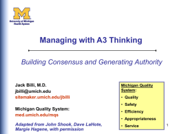 Managing with A3 Thinking
