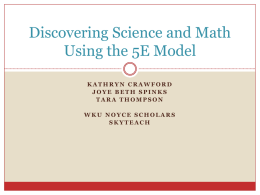 Discovering Science and Math Using the 5E Model (ppt)
