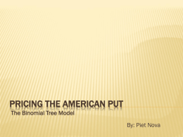 Pricing the American Put