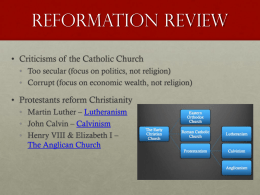 Reformation Review