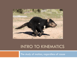 Intro to kinematics